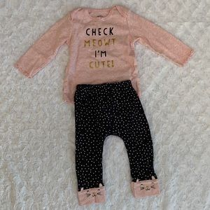 Girls long sleeve and pant matching set